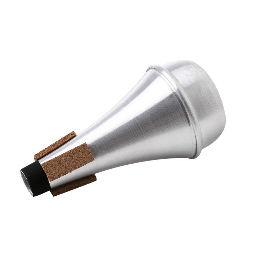 Practice Trumpet Straight Mute Silencer Lightweight Quiet Playing, Aluminum