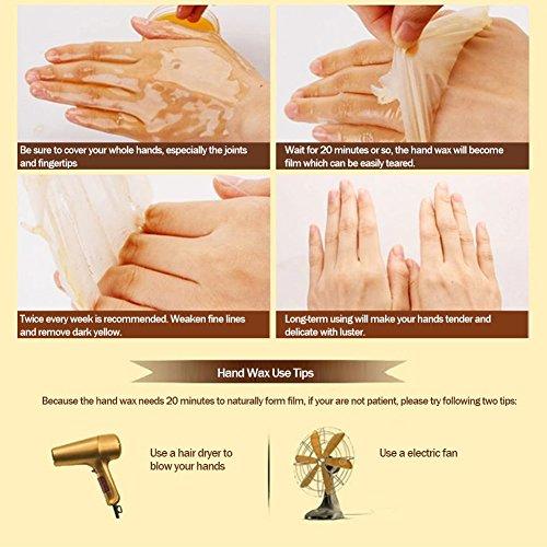 XY Fancy Hands Care ParaffinMilk & Honey Moisturizing Peel Off Hand Wax MaskExfoliate Hydrating Exfoliating Nourish Whitening Hand Mask Skin Care 150g by XY Fancy (Image #7)