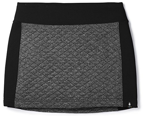 SmartWool Women's Diamond Peak Quilted Skirt Black Heather Large ()