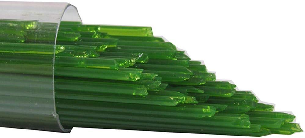 Oceanside Glass Stringers 96 COE Fern Green Opal