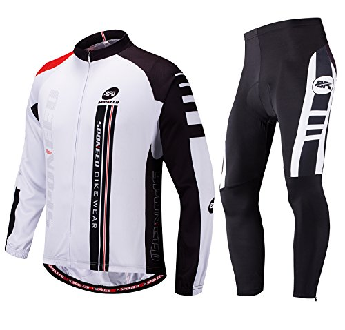 sponeed Men's Suit for Cycling Long Sleeve Jacket Road Bike Clothing MTB Biking Clothes Outfit US XXL ()