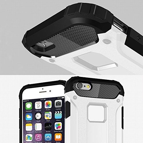 Phone Taschen & Schalen Für iPhone 6 Plus & 6s Plus Tough Armor Warrior Hard Case ( Color : White )