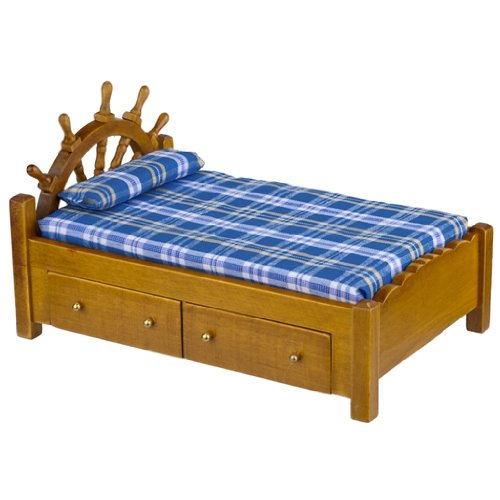 Dollhouse furniture Bedroom Captains Bed