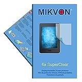 6x Mikvon SuperClear Película de protección de pantalla para Amazon Kindle Paperwhite (2015) - transparente - Protectores de pantalla fabricado en Alemania