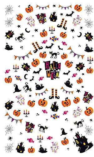1 Pcs Halloween Nails Art Sticker Nail Stickers Decals Girl Princess Acrylic Designs Good Popular Gel Polish Paint Wrap Stencil Adhesive Holiday Tool Tips -