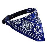 Binmer(TM) Adjustable Pet Dog Puppy Cat Neck Scarf Bandana Collar Fashion Neckerchief (Blue)