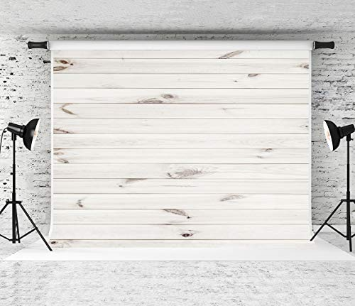 (Kate 8x8ft White Wood Backdrop Horizontal Wood Texture Backgrounds Party Decoration Backdrops Studio Photo Props)
