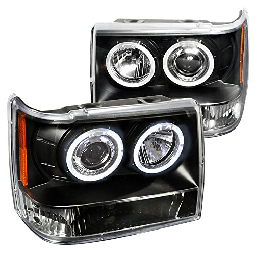 Spec-D Tuning 2LHP-GKEE93JM-TM Jeep Grand Cherokee Black Halo Projector Headlights