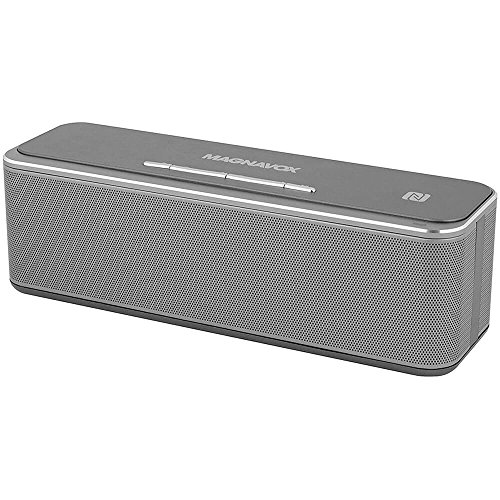 Magnavox Portable Speaker with Mic, Powerful Sound (12w), DSP for Hi-Fi Sound Reproduction, NFC and V4.0 Bluetooth, 360 Degree Virtual Sound Effect, Aluminum Alloy Casing, Model MMA3629