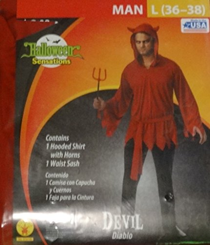 Diablo Devil Mens Adult Costume Shirt Large 36-38 NIP -