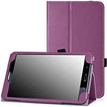 Samsung Galaxy Tab 4 8.0 Case - MoKo Slim Folding Cover Case for Samsung Galaxy Tab 4 8.0 Inch Tablet, PURPLE (With Smart Cover Auto Wake / Sleep. WILL NOT Fit Samsung Galaxy Tab 3 8.0)