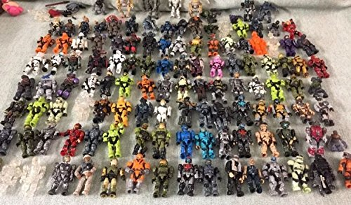 Mega Blocks Minifig Figure Halo Spartans Alien Space Soldier Random Lot Of 4