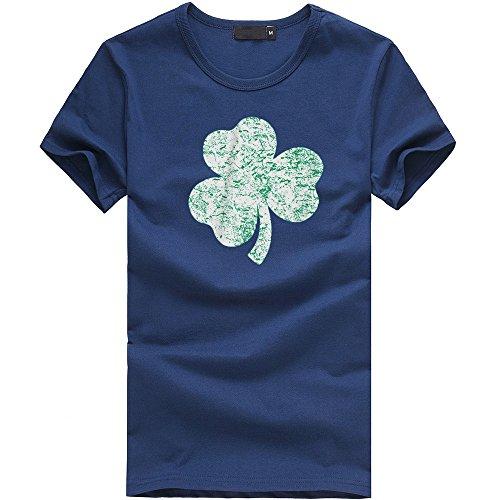 MILIMIEYIK Blouse Clothing Womens, St Patricks Day T-Shirt Vintage Style Distress Heather Irish Green Shamrock Ireland -