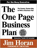 The One Page Business Plan - Executive Edition, Jim Horan, 1891315153