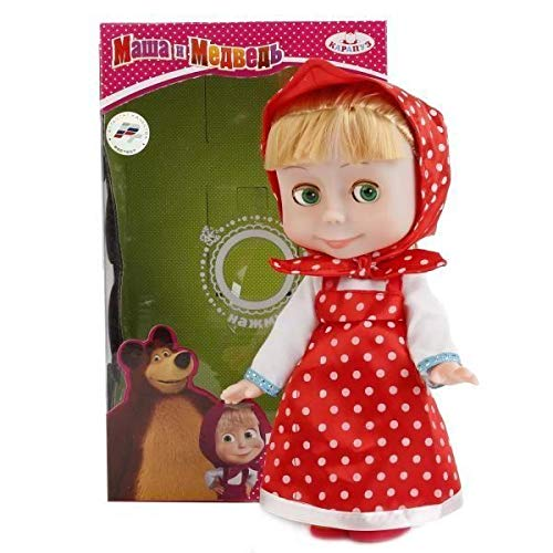 Masha and the Bear Doll Masha Sings 25cm (9.8 inch ) Russian Language! Toy Dress Doll, The Famous Cartoon,a Soft Gift, Girl, Birthday Interactive from Masha and the Bear