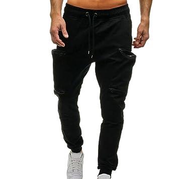 YJYDADA Pantalón de Hombre con Cordón Clásico Pantalones de ...