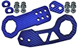 tow hook for 2008 gmc sierra - ICBEAMER Racing Style Universal Anodized CNC Aluminum Tow Hook Kit Including Front Rear Tow Hook [Color: Blue]