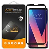 [2-Pack] Supershieldz for LG V30 Tempered Glass Screen Protector, [Full Screen Coverage][3D Curved Glass] Anti-Scratch, Bubble Free, Lifetime Replacement (Black)