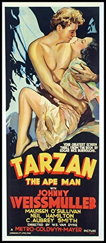 Tarzan The Ape Man Fridge Magnet 7 5 X 17 Movie Poster Magnetic Canvas Print
