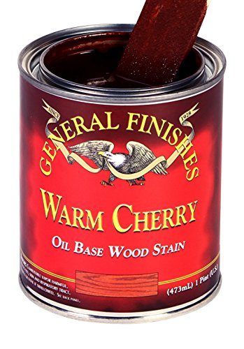 General Finishes CHQT Oil Based Penetrating Wood Stain, 1 Quart, Warm Cherry