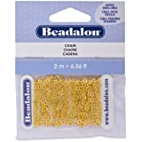 Beadalon Chain Dapped Small Cable Gold Plated, 2-Meters