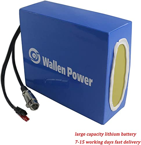 Wallenpower Ebike Battery 36V 10AH Electric Bicycle Battery Waterproof Battery Pack fit for 500W 350W 250W Bike Motor, with 42V 2A Charger and 20A BMS Protection Board