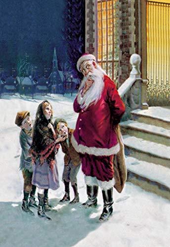 (ArtParisienne Santa and Street Kids Paul Stahr 16x24-inch Wall Decal)