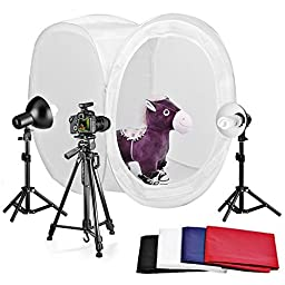Neewer Table Top Round Photography Studio Tent Lighting Kit:32x32\