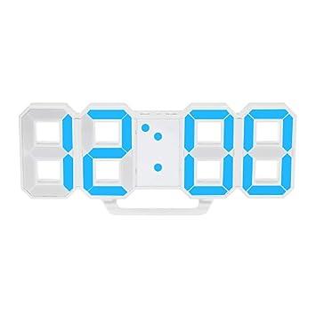 Heaviesk Reloj de Pared LED Reloj Digital de Gran tamaño Único Vintage Decoración del hogar Reloj Temporizador Relojes de Alarma: Amazon.es: Jardín
