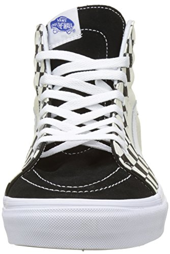 Noir checker Sk8 Sidewall Hautes Vans hi Baskets Adulte Mixte P4HqOw
