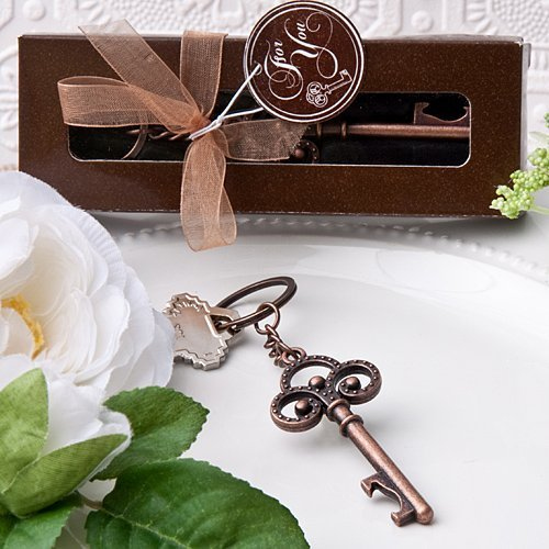 Fashion Craft 4778 Vintage Skeleton Themed Key Chain, Brown ()