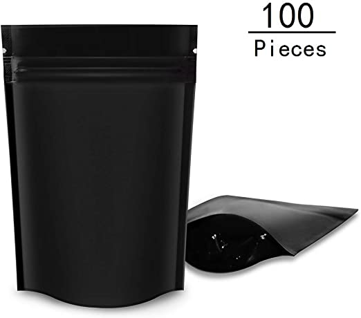 "100 pcs Insect-Proof Kraft Window Stand-Up Ziplock Pouch w// Tear Notch 4x6/"""