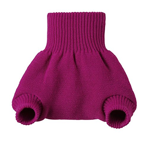 DISANA 100% ORGANIC WOOL DIAPERS COVER/SOAKER/OVER PANTS MADE IN GERMANY (3-6 months (62-68), Berry)