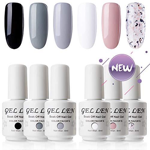 Gellen UV LED Gel Nail Polish Decent Luxury Set Series - 6 C