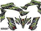 Senge Graphics All Years Kawasaki KFX 700, Wildfire Green Graphics Kit