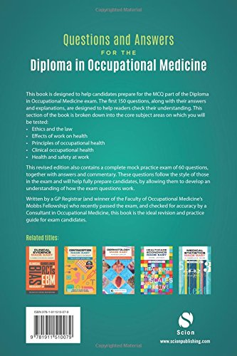 Questions and Answers for the Diploma in Occupational Medicine, revised edition - medicalbooks.filipinodoctors.org