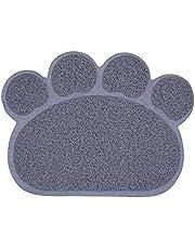 Sahgsa Alfombrilla para Perro para Perros y Gatos, Almohadilla Impermeable Antideslizante para Gatos con Forma de Pata de PVC