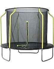 Plum Galvanized Steel 8ft Round Trampoline with Safety Net Enclosure A