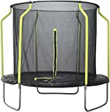 Plum Galvanized Steel 8ft Round Trampoline with Safety Net Enclosure A