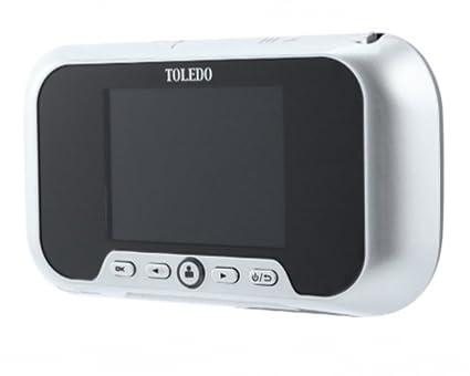 TOLEDO Electronic Peephole Door Viewer U0026 Video Door Bell TR01PS (LCD  Monitor Picture U0026 Video