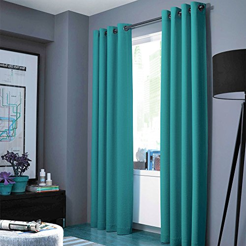 Midwest (WC86) Different Colors and Sizes1 Panel Drape Window Treatment Curtain Thermal Insulated White Coating Blackout Antique Grommets Solid Color (63