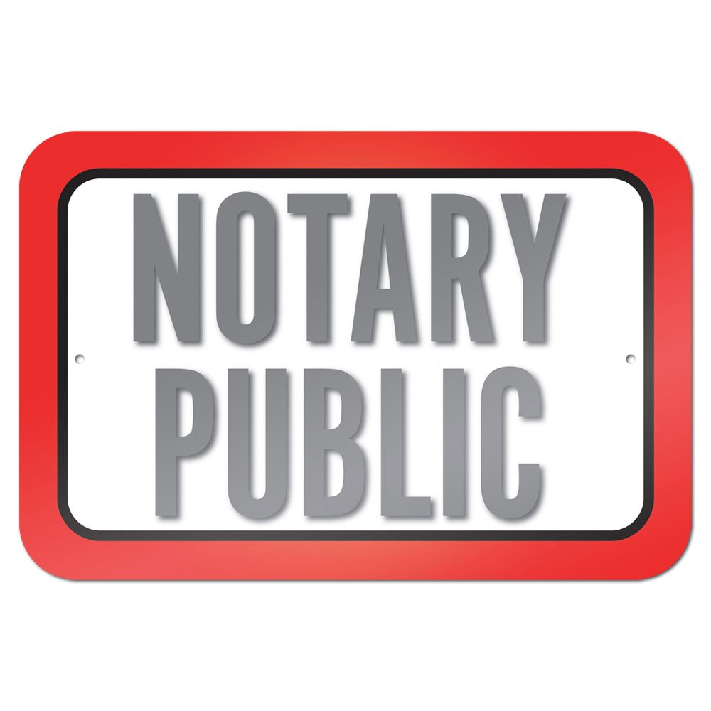 Notary Public 9'' x 6'' Metal Sign