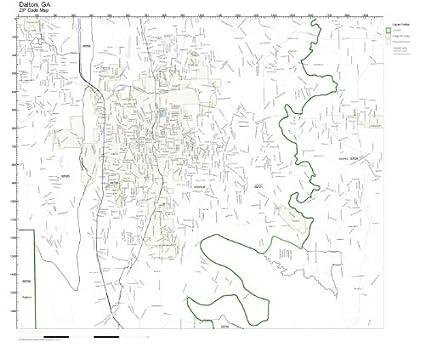 Amazon.com: ZIP Code Wall Map of Dalton, GA ZIP Code Map Not