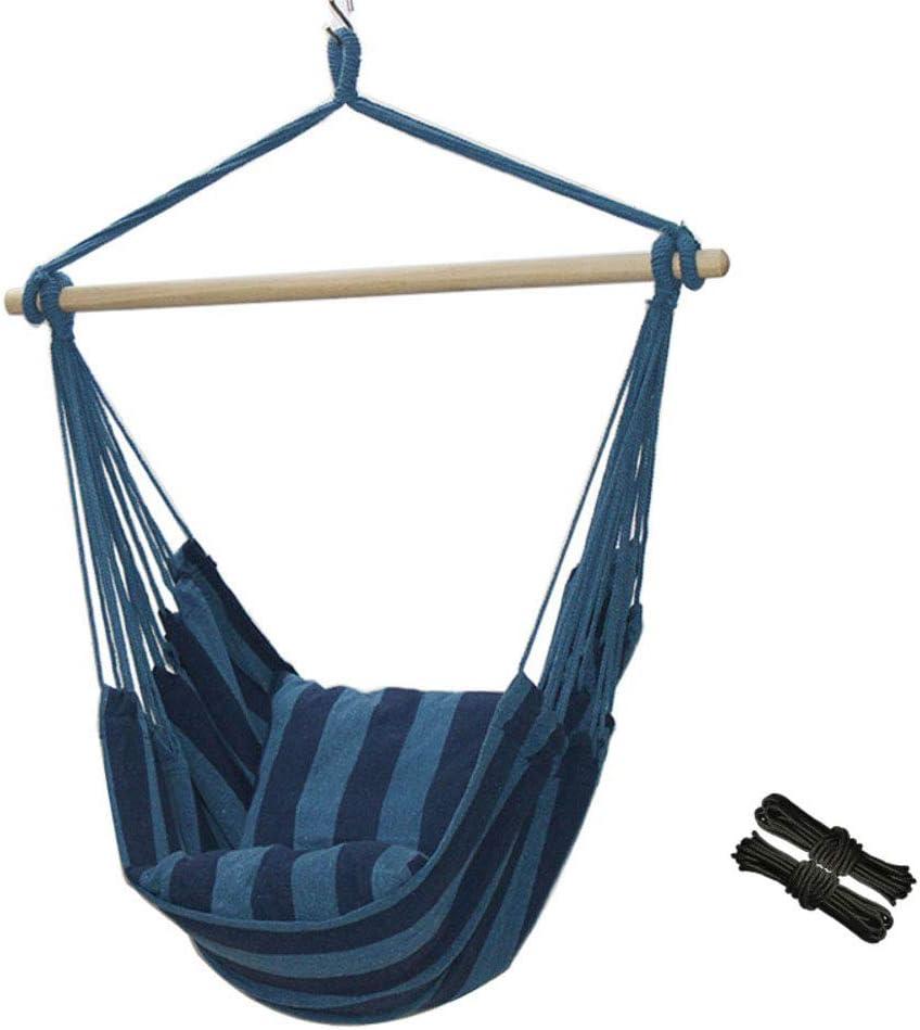 WJH Silla Hamaca Colgante, Hacen Pivotar La Cama Playa, Solo Hamacas, Portátil Durable Respirable para Hamaca Camping Jardín Patio Descansar