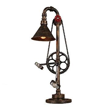 Amazon.com: Wsxxn - Lámpara de mesa de hierro forjado retro ...