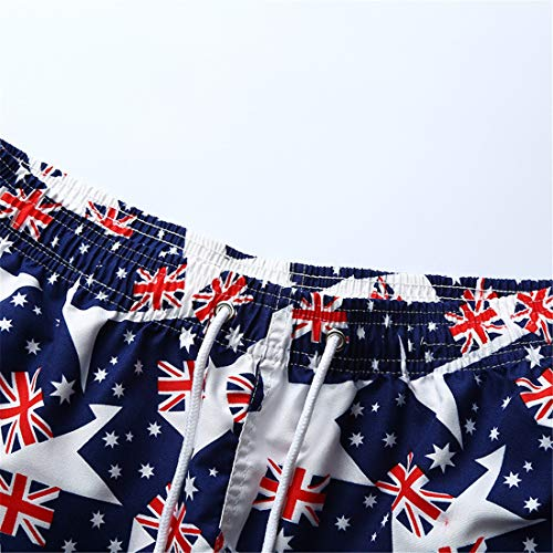 destacada Bandera Playa Pantalones Casuales Bandera Nacional Pantalones de Floja Impresa Bandera UdwnrdqF7I