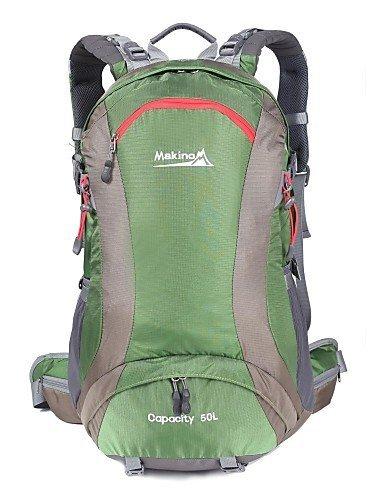 GXS makino 50l wasserdichten belüfteten Nylon Outdoor-Rucksack mit Regenschutz