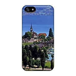 For ConnieJCole Iphone Protective Case, High Quality For Iphone 5/5s Switzerl Panorama Skin Case Cover