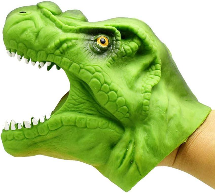 Mallalah - Guantes de Marionetas realistas, Juguete Extensible, Dinosaurio y tiranosaurio Rex, Juguete de Mano, Guantes de Peluche
