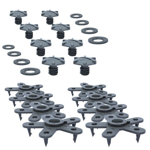 (Eagle Klaw Floor Mat Clips Set of Anti-Slip Fixing Retainers for Car Mats Made in USA - Grey - Pack of 8 for 4 Mats (Without Cutter))